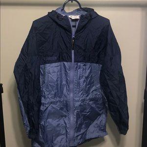 Columbia Purple Navy Blue Rain Jacket Windbreaker